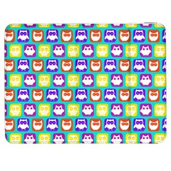 Colorful Whimsical Owl Pattern Samsung Galaxy Tab 7  P1000 Flip Case by creativemom