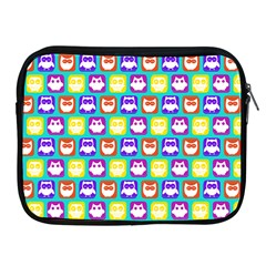 Colorful Whimsical Owl Pattern Apple Ipad 2/3/4 Zipper Cases by creativemom