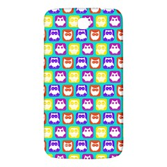 Colorful Whimsical Owl Pattern Samsung Galaxy Mega I9200 Hardshell Back Case by creativemom