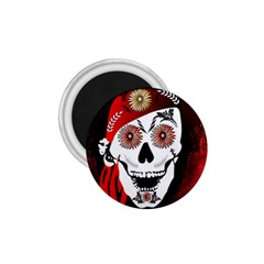 Funny Happy Skull 1 75  Magnets by FantasyWorld7