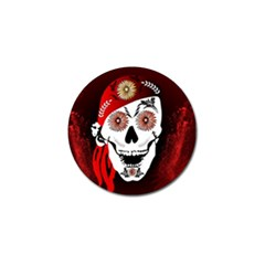 Funny Happy Skull Golf Ball Marker by FantasyWorld7