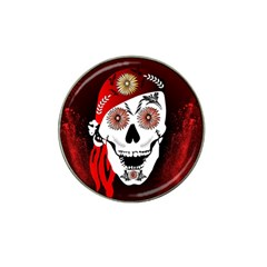 Funny Happy Skull Hat Clip Ball Marker by FantasyWorld7