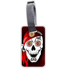 Funny Happy Skull Luggage Tags (two Sides) by FantasyWorld7