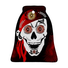 Funny Happy Skull Bell Ornament (2 Sides) by FantasyWorld7