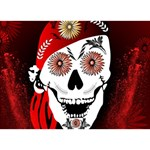 Funny Happy Skull LOVE Bottom 3D Greeting Card (7x5)  Front