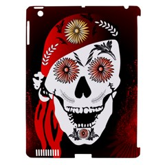 Funny Happy Skull Apple Ipad 3/4 Hardshell Case (compatible With Smart Cover) by FantasyWorld7
