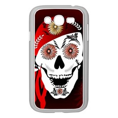 Funny Happy Skull Samsung Galaxy Grand Duos I9082 Case (white) by FantasyWorld7