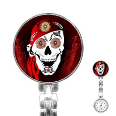 Funny Happy Skull Stainless Steel Nurses Watches by FantasyWorld7