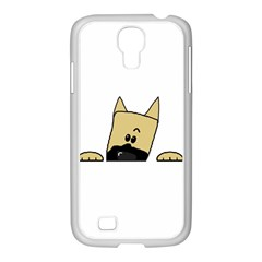 Peeping Fawn Great Dane With Docked Ears Samsung GALAXY S4 I9500/ I9505 Case (White) by TailWags