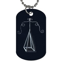 Pyramidbagdavinciblack Dog Tag (two Sides) by pelipoeka