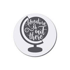 Adventure Is Out There Rubber Coaster (Round)  by CraftyLittleNodes