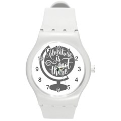 Adventure Is Out There Round Plastic Sport Watch (m) by CraftyLittleNodes