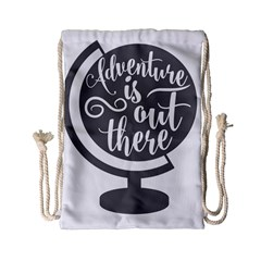 Adventure Is Out There Drawstring Bag (small) by CraftyLittleNodes