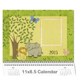 Tiny Jungle Wall Calendar 2016 - Wall Calendar 11  x 8.5  (12-Months)