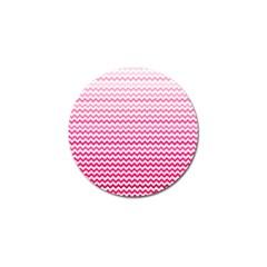 Pink Gradient Chevron Golf Ball Marker by CraftyLittleNodes