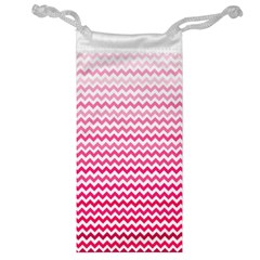 Pink Gradient Chevron Jewelry Bags by CraftyLittleNodes