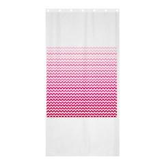 Pink Gradient Chevron Shower Curtain 36  X 72  (stall)  by CraftyLittleNodes