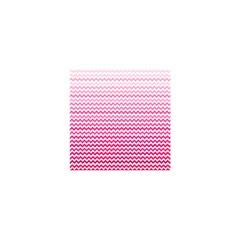 Pink Gradient Chevron Shower Curtain 48  X 72  (small)  by CraftyLittleNodes