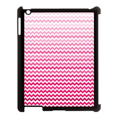 Pink Gradient Chevron Apple Ipad 3/4 Case (black) by CraftyLittleNodes