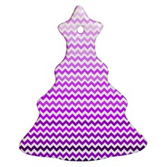 Purple Gradient Chevron Christmas Tree Ornament (2 Sides) by CraftyLittleNodes