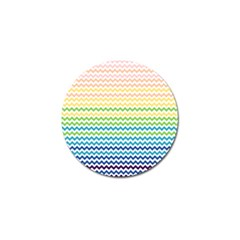 Pastel Gradient Rainbow Chevron Golf Ball Marker (4 Pack) by CraftyLittleNodes