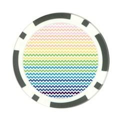 Pastel Gradient Rainbow Chevron Poker Chip Card Guards by CraftyLittleNodes