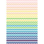 Pastel Gradient Rainbow Chevron Get Well 3D Greeting Card (7x5)  Inside