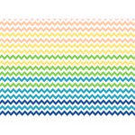 Pastel Gradient Rainbow Chevron Get Well 3D Greeting Card (7x5)  Back