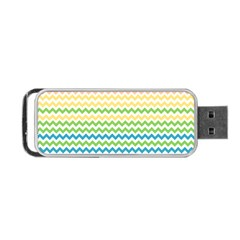 Pastel Gradient Rainbow Chevron Portable Usb Flash (two Sides) by CraftyLittleNodes