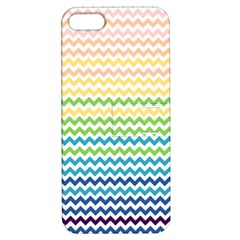 Pastel Gradient Rainbow Chevron Apple Iphone 5 Hardshell Case With Stand by CraftyLittleNodes