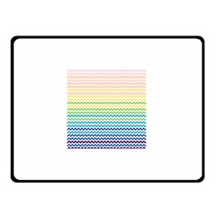 Pastel Gradient Rainbow Chevron Double Sided Fleece Blanket (Small)  by CraftyLittleNodes