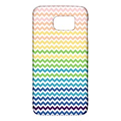 Pastel Gradient Rainbow Chevron Galaxy S6 by CraftyLittleNodes