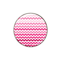 Pink Gradient Chevron Large Hat Clip Ball Marker (4 Pack) by CraftyLittleNodes