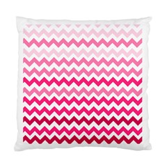 Pink Gradient Chevron Large Standard Cushion Cases (two Sides)  by CraftyLittleNodes