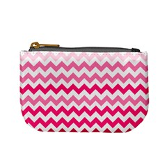 Pink Gradient Chevron Large Mini Coin Purses