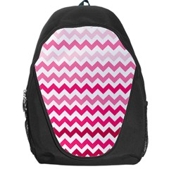 Pink Gradient Chevron Large Backpack Bag by CraftyLittleNodes