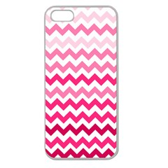 Pink Gradient Chevron Large Apple Seamless iPhone 5 Case (Clear) by CraftyLittleNodes