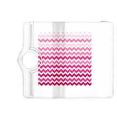 Pink Gradient Chevron Large Kindle Fire HDX 8.9  Flip 360 Case by CraftyLittleNodes