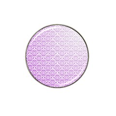 Purple Damask Gradient Hat Clip Ball Marker (4 Pack) by CraftyLittleNodes