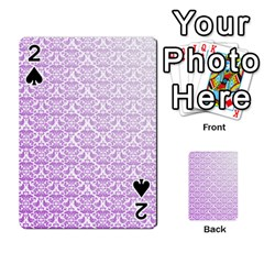 Purple Damask Gradient Playing Cards 54 Designs  by CraftyLittleNodes