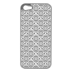 Gray Damask Apple Iphone 5 Case (silver) by CraftyLittleNodes