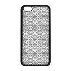 Gray Damask Apple Iphone 5c Seamless Case (black) by CraftyLittleNodes