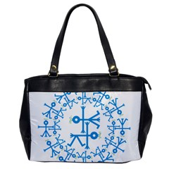 Blue Birds And Olive Branch Circle Icon Office Handbags by thisisnotme