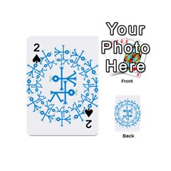 Blue Birds And Olive Branch Circle Icon Playing Cards 54 (Mini)  by thisisnotme