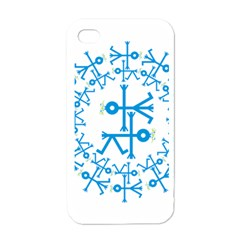 Blue Birds And Olive Branch Circle Icon Apple Iphone 4 Case (white) by thisisnotme