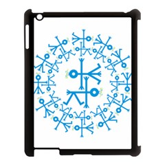 Blue Birds And Olive Branch Circle Icon Apple Ipad 3/4 Case (black) by thisisnotme