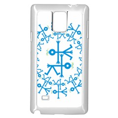 Blue Birds And Olive Branch Circle Icon Samsung Galaxy Note 4 Case (White) by thisisnotme