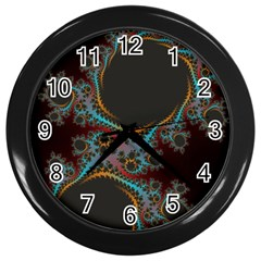 Dream In Fract Wall Clocks (black) by theunrulyartist