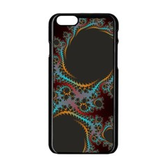 Dream In Fract Apple Iphone 6/6s Black Enamel Case by digitaldivadesigns