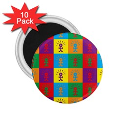Multi Coloured Lots Of Angry Babies Icon 2 25  Magnets (10 Pack)  by thisisnotme